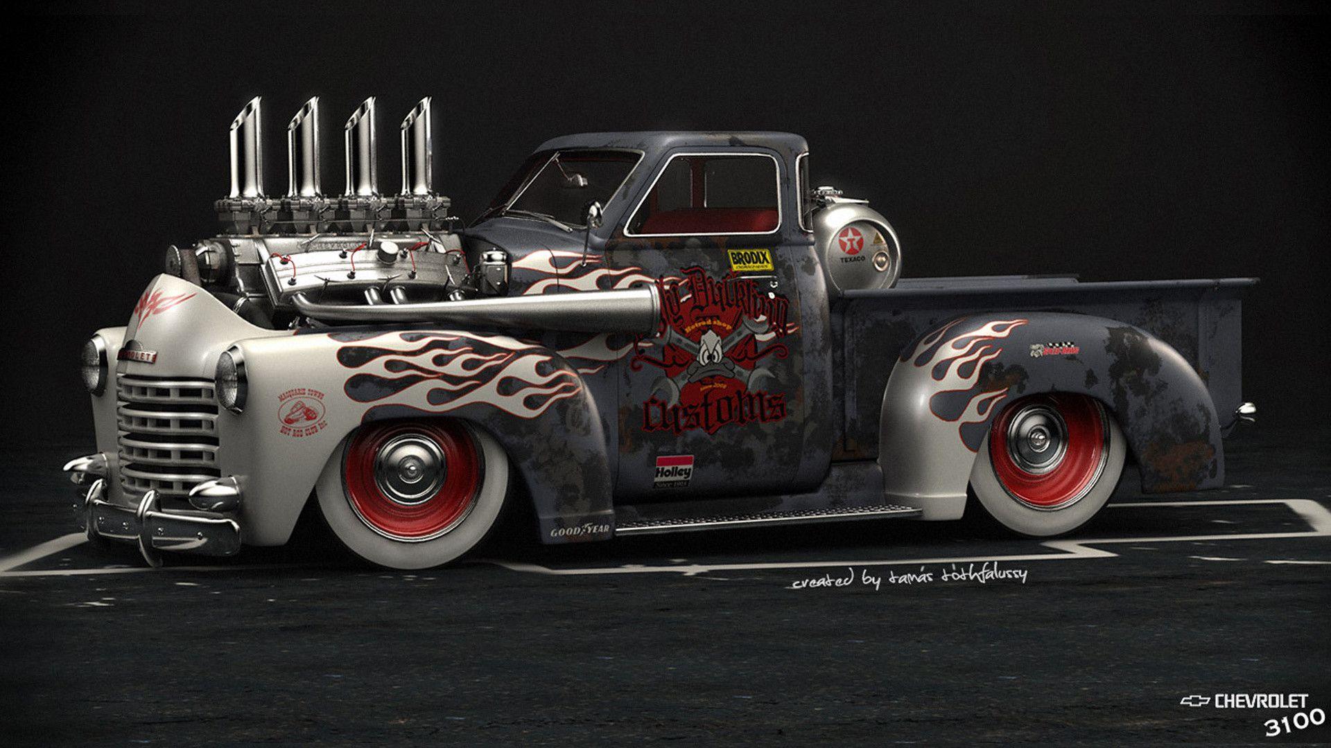 American Muscle Car Wallpaper 1920x1080 For Mac Retro Cars Hot Rod Pickup Car