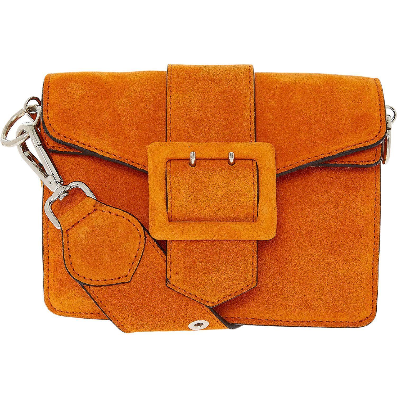 """greatsandie"""" burnt orange suede cross-body bag - tk maxx"""