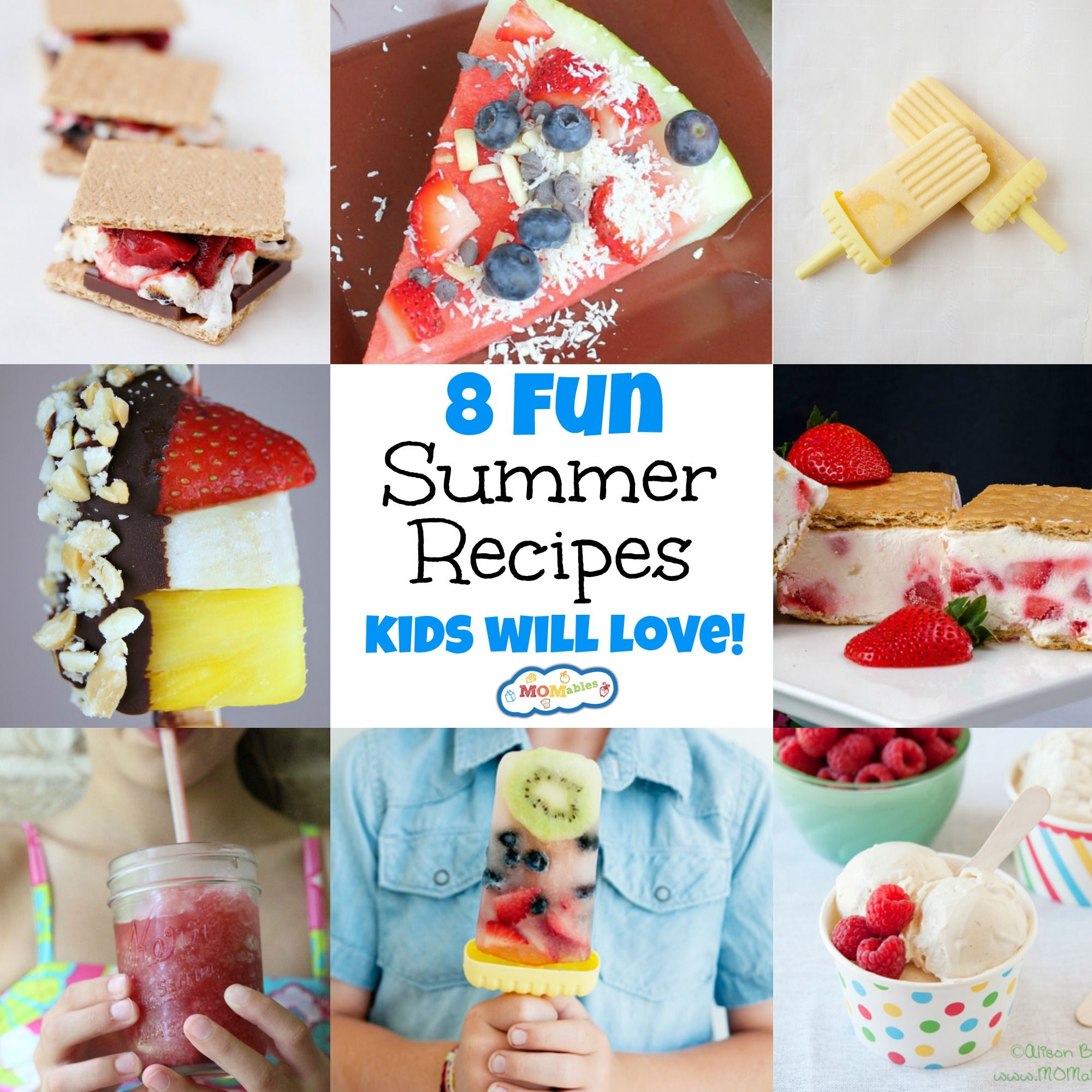 8 Fun Summer Recipes Kids Will Love Momables Mealtime Solutions For Busy Parents Summer Food Kids Healthy Smoothies For Kids Summer Recipes