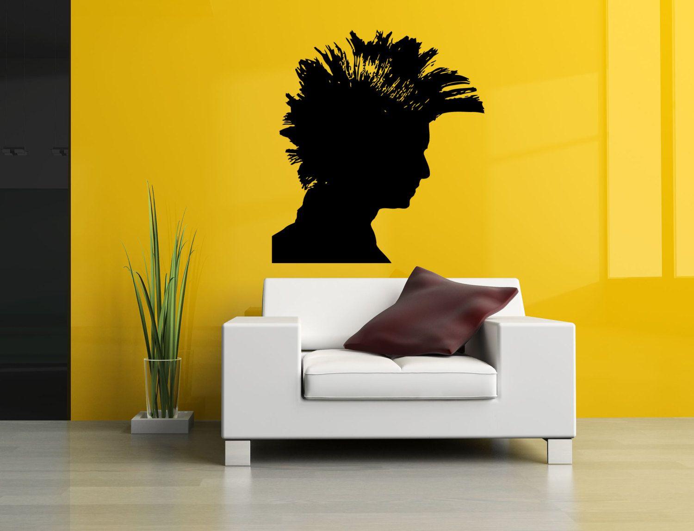 Wall Vinyl Sticker Decals Mural Room Design Pattern Art Hair Salon ...