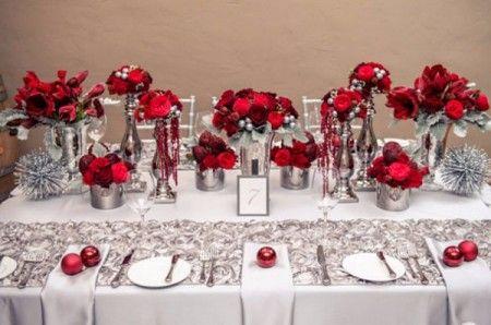 Decoration Pour Un Mariage Rouge Blanc Et Argent Mariage Pinterest
