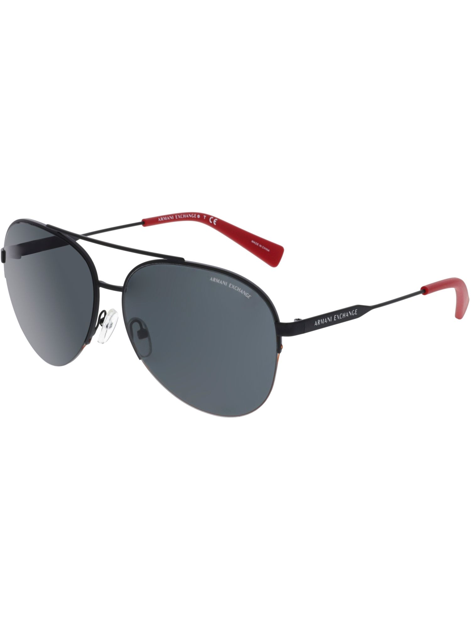 b04624dede1af ARMANI EXCHANGE ARMANI EXCHANGE MEN S AX2020S-606387-60 BLACK AVIATOR  SUNGLASSES.  armaniexchange