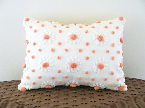 Mango Pops Chenille Cushion Cover 12 X 16 Inches Light Orange Pillow Cover Cottage Chic Pillow Case Pea Orange Pillow Covers Orange Pillows Chenille Pillow