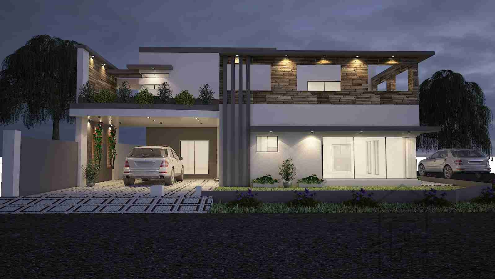 Front Design Of House Double Storey Part - 35: House-front-elevation-design-and-floor-plan-and-