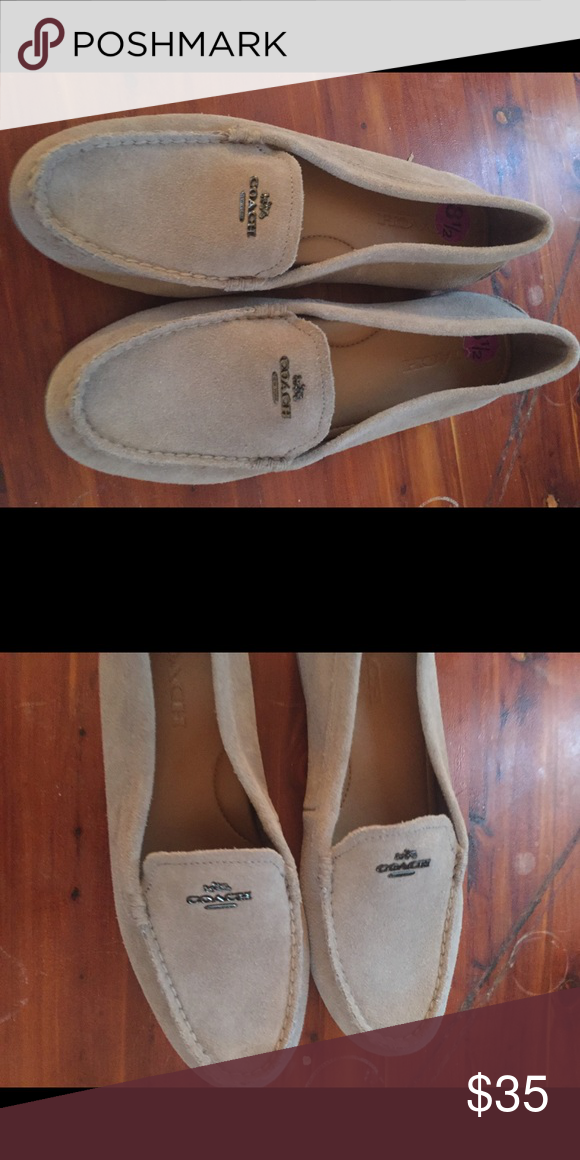 7a09625f917 COACH Suede Tan Loafers- NEW Beautiful COACH Loafers- worn once- they are  the wrong size! Need a good home. Coach Shoes Flats   Loafers