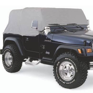 Smittybilt Water Resistant Cab Cover Gray 1161 Jeep Wrangler Yj Jeep Cj7 Jeep Jk