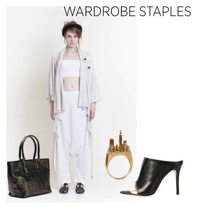 """""""Wardrobe staples - city chic"""" by runway2street ❤ liked on Polyvore featuring Gaffer & Fluf, Anne Sylvain, Forest of Chintz, Artelier, De Siena, chic, cozy, urban and springessentials"""