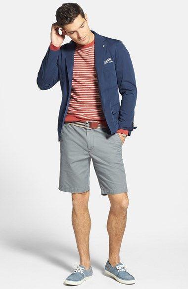 Gant Cotton Blazer, Wallin & Bros. Crewneck Sweater & Bonobos Washed Chino Shorts  available at #Nordstrom