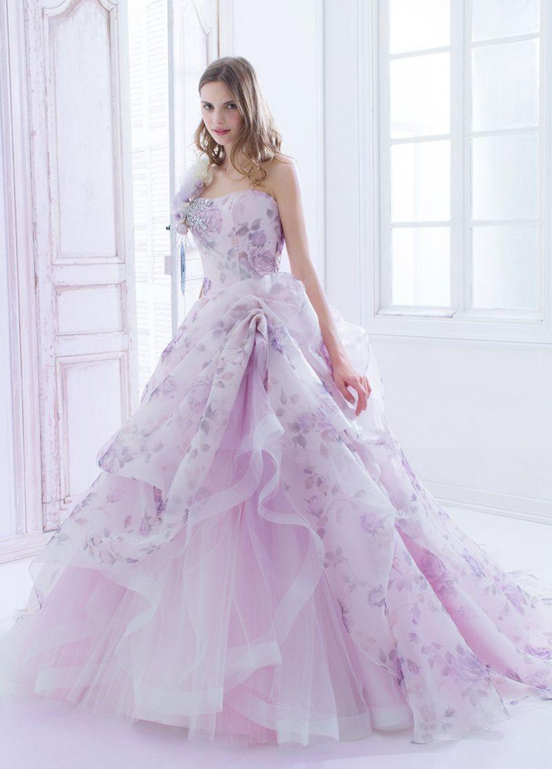 Floral print wedding dresses  Blooming Trend  Dreamy Wedding Dresses With Romantic Floral Print
