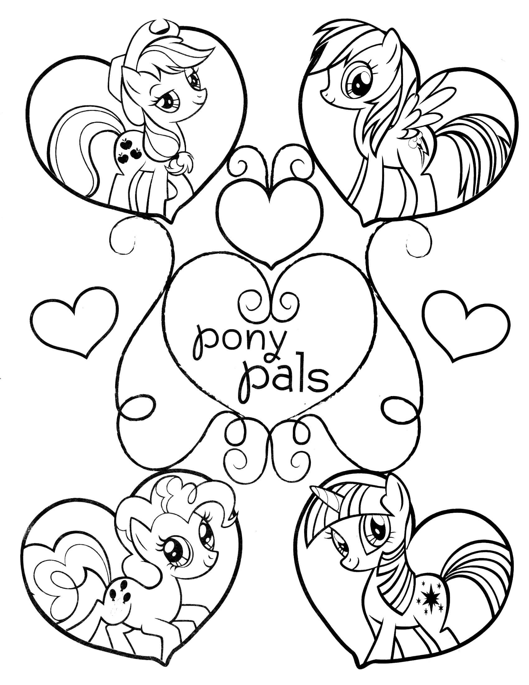 My Little Pony Coloring Page My Little Pony Coloring Mermaid Coloring Pages Heart Coloring Pages