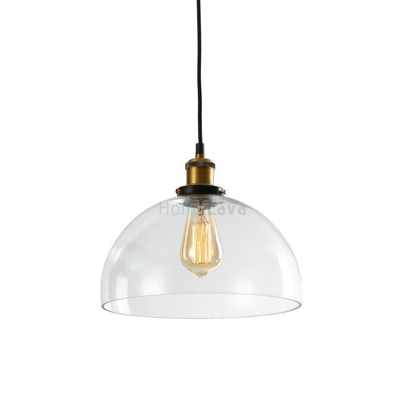 Clear glass dome pendant light ceiling lightssalty coffee