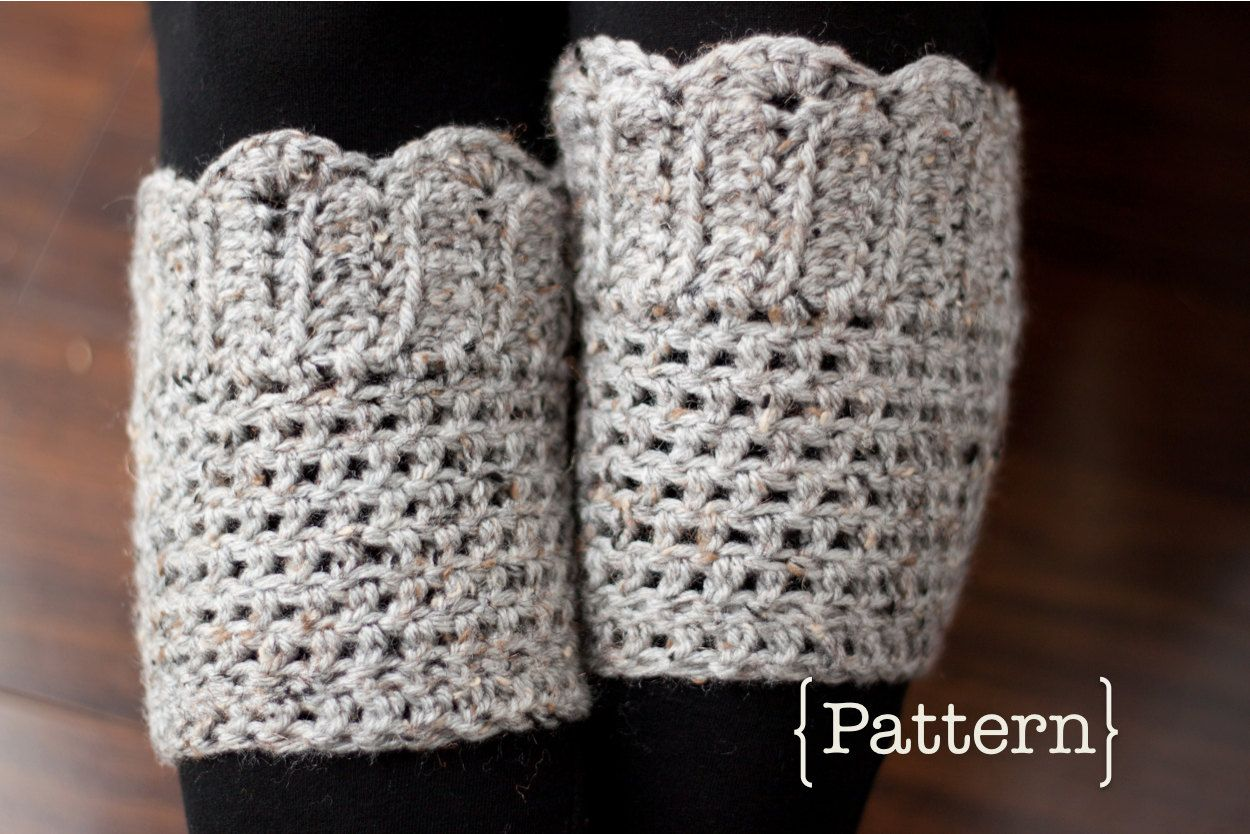 Crochet Pattern- Scallop Boot Cuffs. $5.00, via Etsy. Something like ...