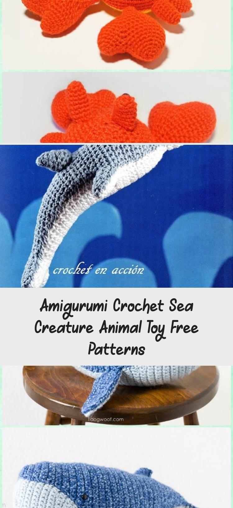 Baby Knitting Patterns Amigurumi Crochet Sea Creature Animal Toy Free  Patterns: Cro... | 1635x750