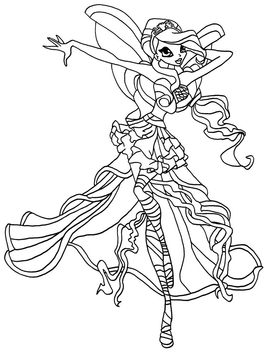 http://colorings.co/winx-club-coloring-book/ | Colorings | Pinterest ...