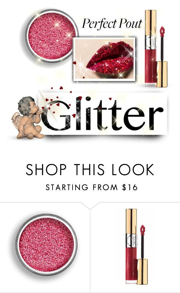 """Angel Kisses"" by youaresofashion ❤ liked on Polyvore featuring beauty, Yves Saint Laurent and glitterlips"