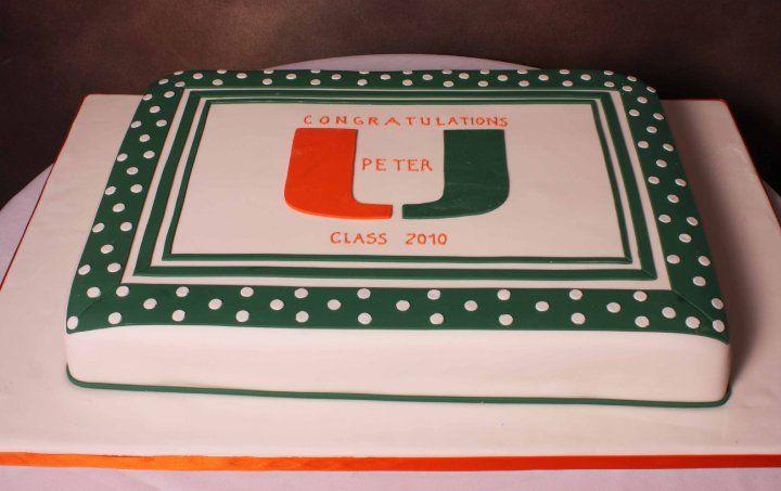 University Of Miami Graduate Graduation Cakes