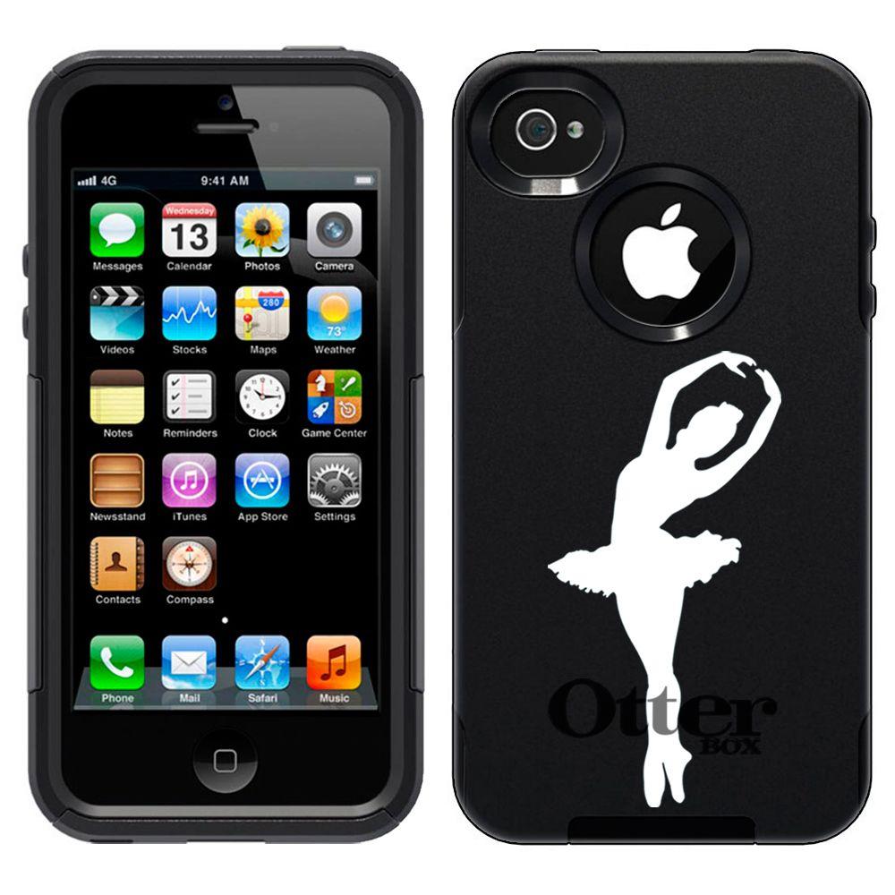 Apple iPhone 4 Silhouette Ballerina,Ballet Dancer on Black OtterBox Design Case $44.95