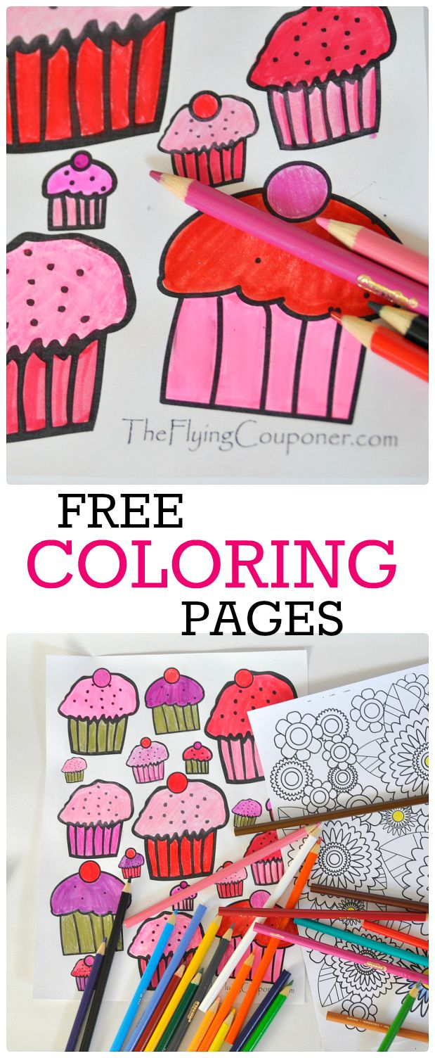 Colouring Pages for Adults and Kids | Saving money, Free and Free ...