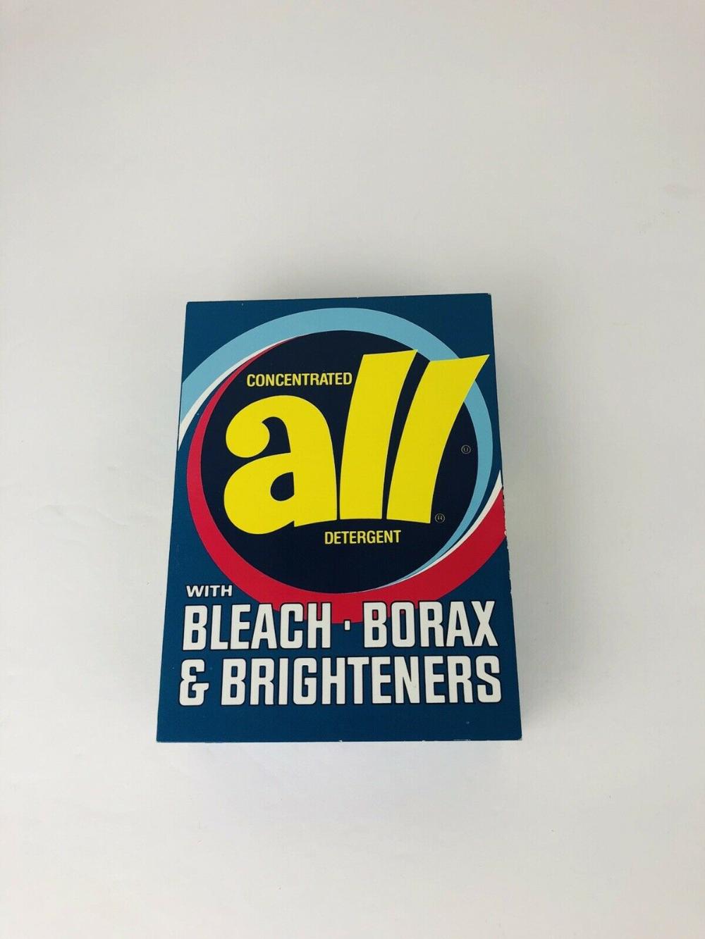 Vintage All Laundry Detergent Box Pop Art Advertising Transistor
