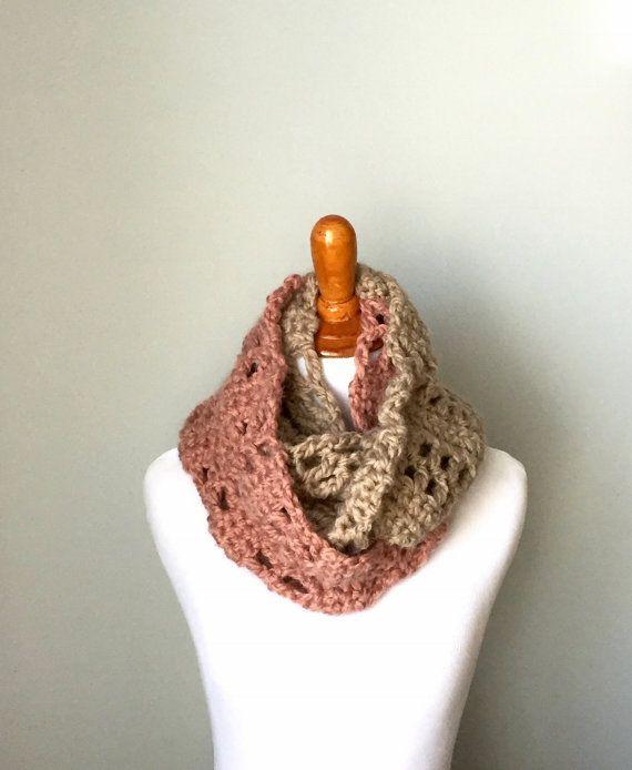Chunky crochet infinity scarf women\'s crochet by EvelynAndPeter ...