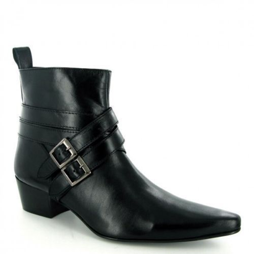 b9d59a4d897 New Handmade Men Cuban Heel Fashion Pointed Toe Leather Boots, men ...