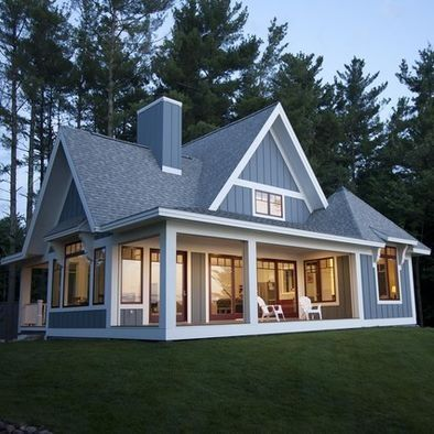 Grey and white Board And Batten Siding Design, Pictures, Remodel, Decor and Ideas ...