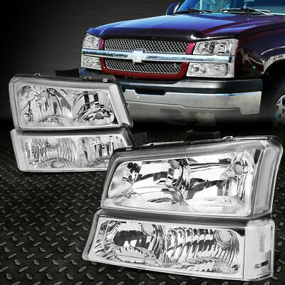 (Ad eBay) 🔥🚘 For 2003-2007 Chevy Silverado Avalanche Headlights+Bumper Lamps [Chrome]