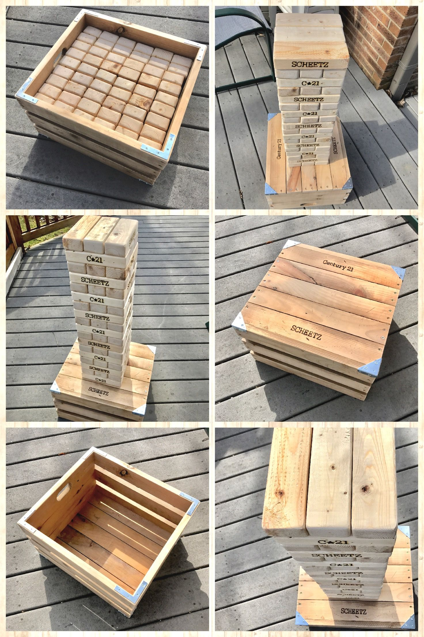 Jumbo Jenga 2x3 S And Reclaimed Wood Crate Wood Sh T