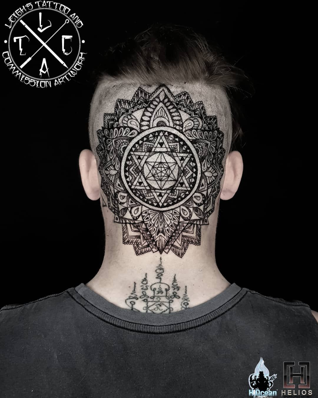 Back Section And 1st Day To This Full Side And Back Of Head Mandala Piece Insta Leigh Tattoos Fb Leighstca Fo Best Neck Tattoos Tattoos For Guys Neck Tattoo