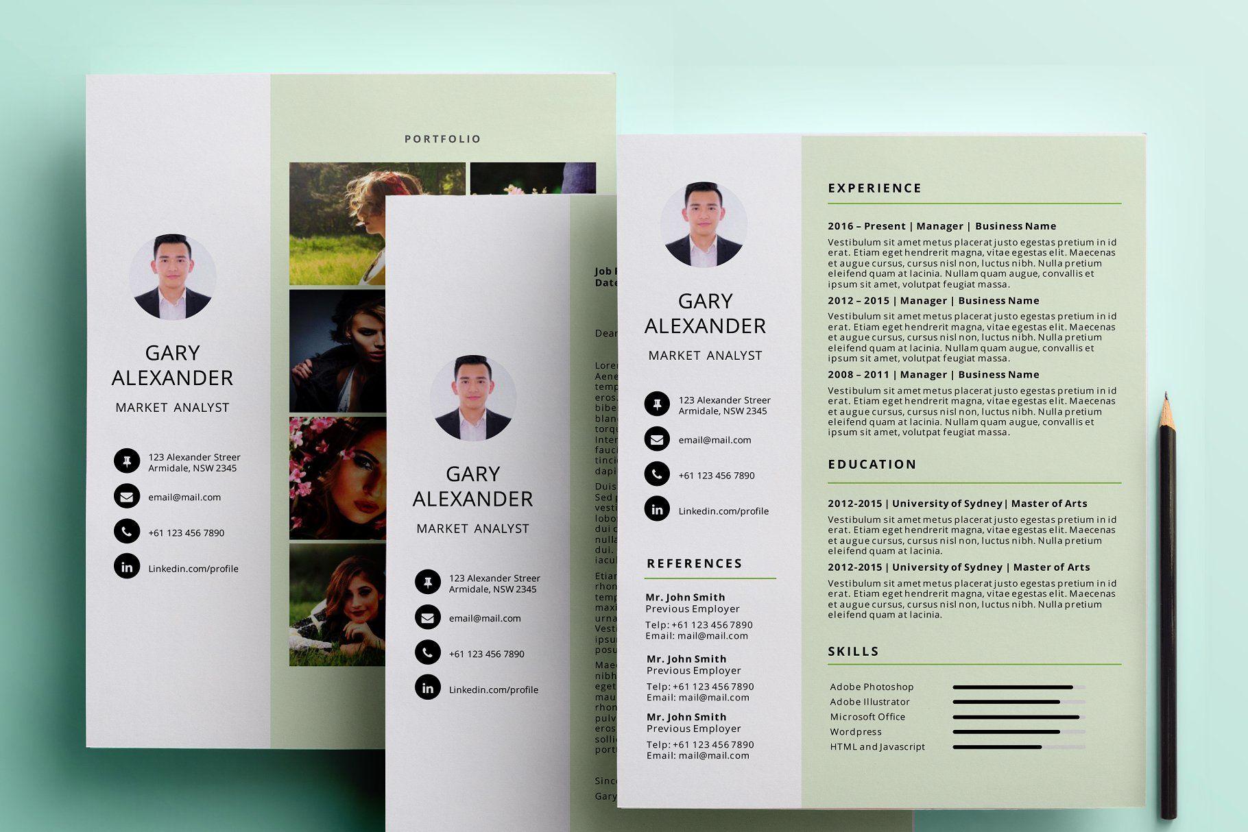 Simple Powerpoint Resume Pack Resume Powerpoint Simple