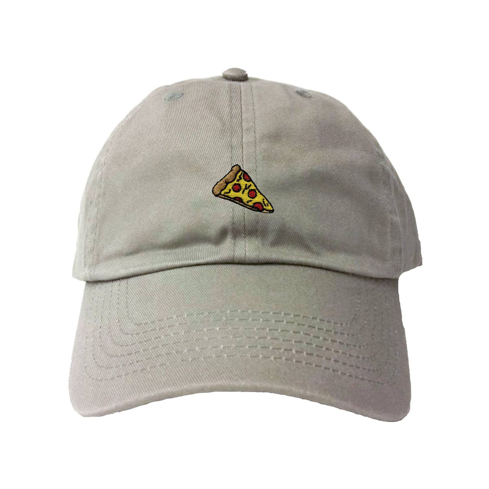 Adult Pizza Embroidered Dad Hat Cap