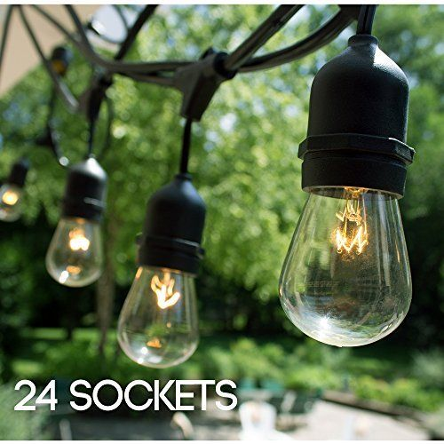 Pin On Front Back Yard Ideas, Proxy Lighting 48 Foot Weatherproof Outdoor String Lights