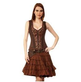 krystiyan steampunk authentic steel boned overbust corset