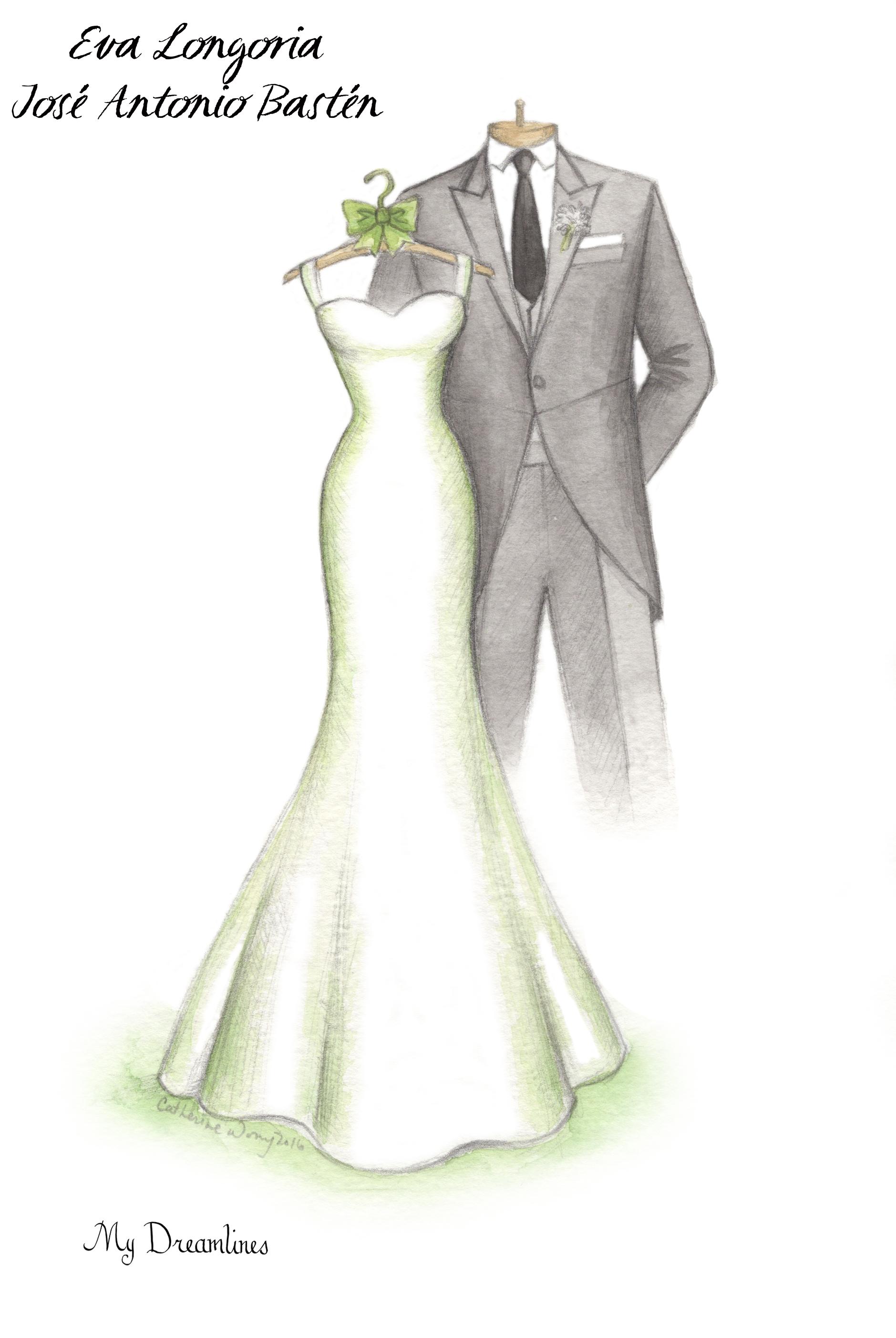 Wedding Dress Sketch For A Wedding Gift Bridal Showers Pinterest