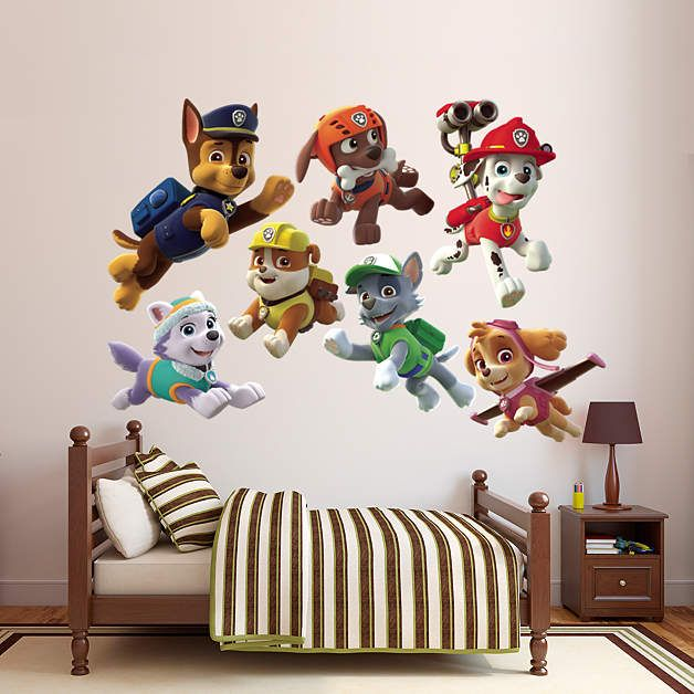 paw patrol puppies collection fathead wall decal paw. Black Bedroom Furniture Sets. Home Design Ideas