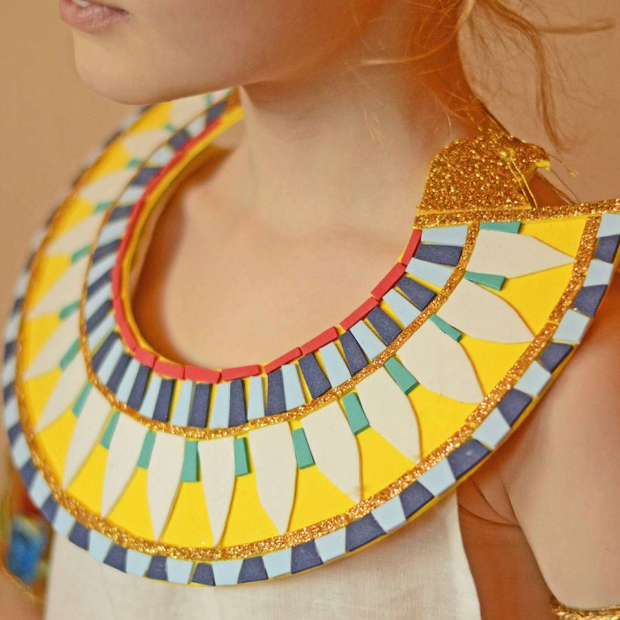 Make your own ancient egyptian collar kit by time for How to make african jewelry crafts