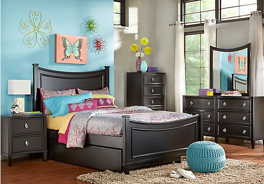 Best Shop For A Jaclyn Place Black 5 Pc Full Bedroom At Rooms 400 x 300