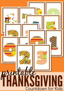 Get the kids to help you countdown to turkey day with this fun and ...