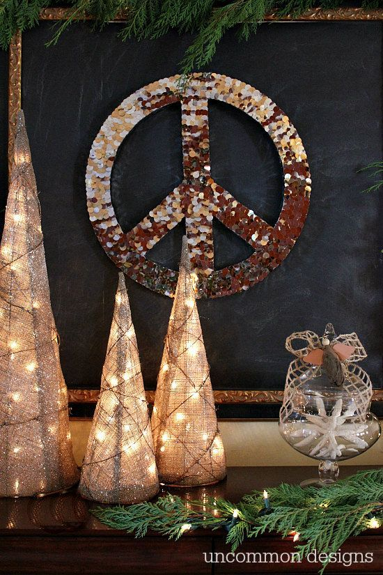 Peace Sign Decorating Ideas Alluring Peace Sign Wall Art For Christmas  Peace Walls And Diy Ideas 2018