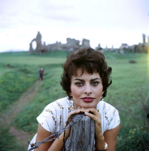 Sophia Loren photographed by Loomis Dean, 1957.