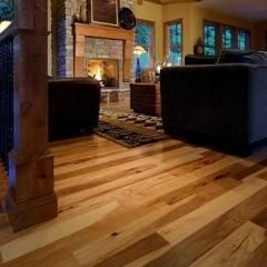 4 94 Wide Shaw Sutton Mtn Pre Finished Hickory Hardwood Color Burnt Barnboard 3 19 Hickory Hardwood Floors Hickory Flooring Flooring Trends