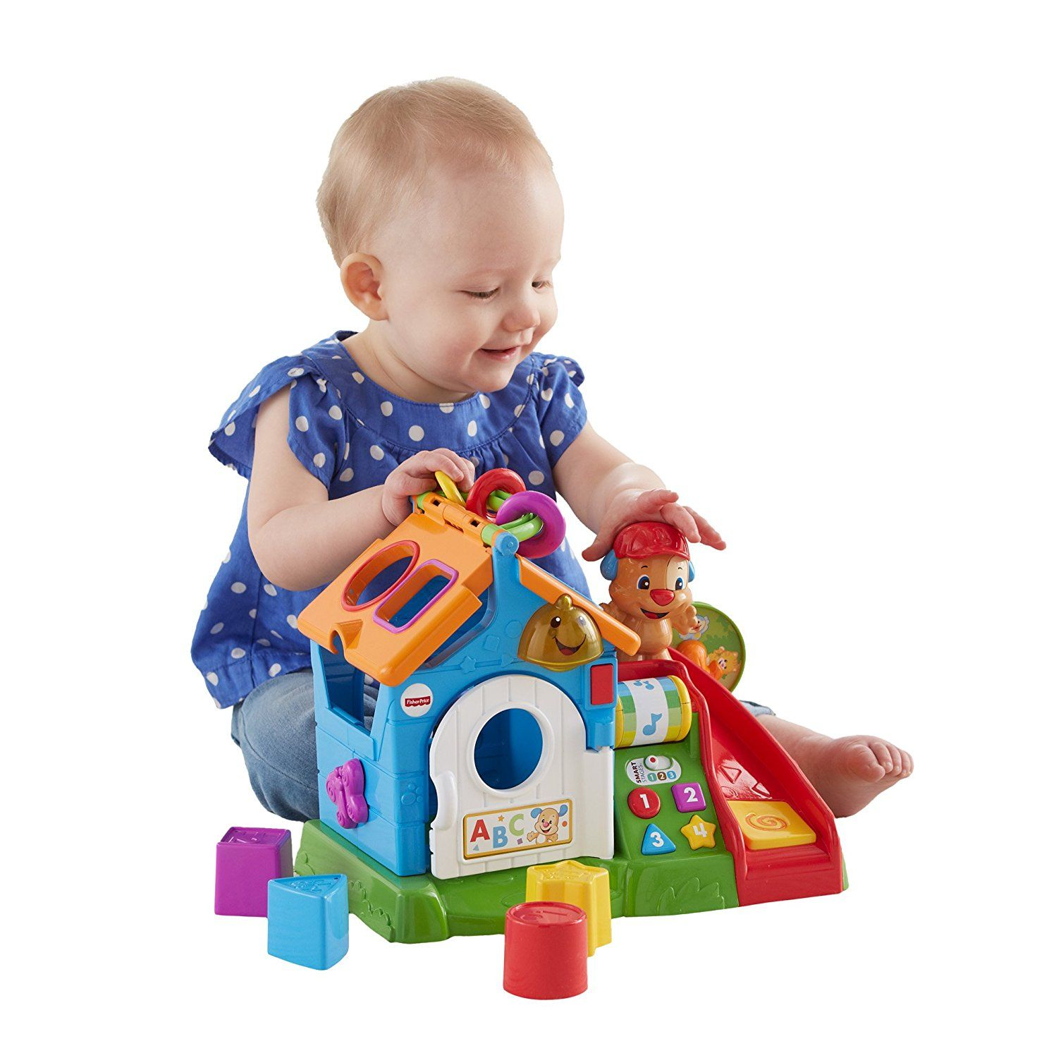 Amazon Com Fisher Price Laugh Learn Smart Stages Activity Play House Toys Games Toddler Toys Toddler Girl Toys Toddler Boy Toys
