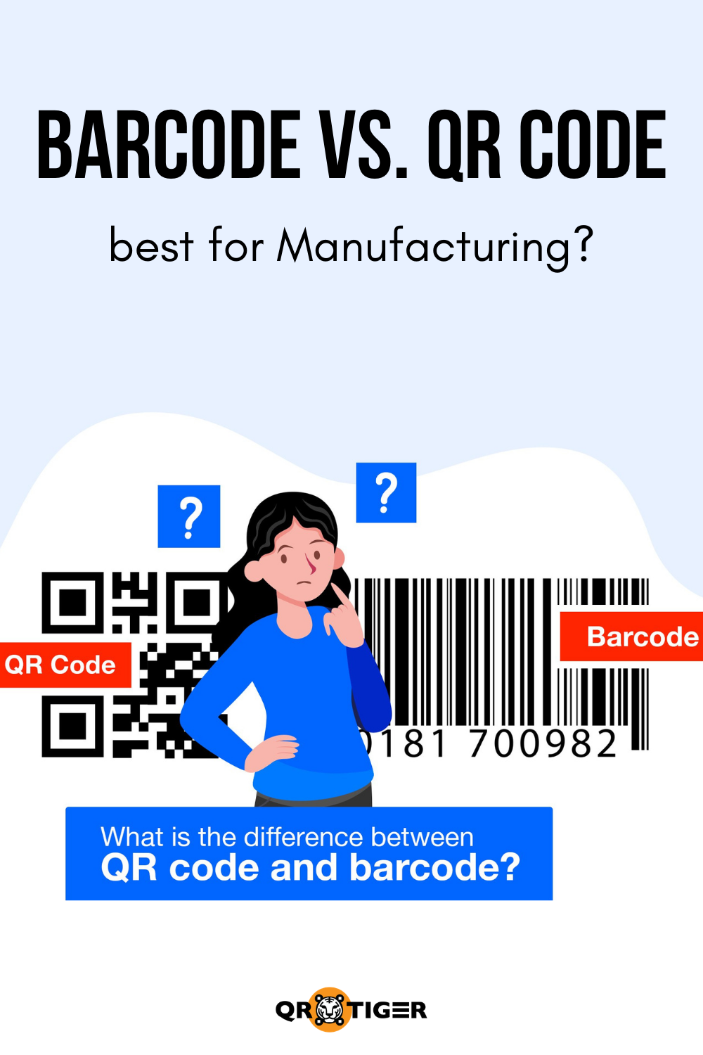 Qrcode Vs Barcode What S The Difference Between Qr Code And Barcode Manufacturing Tools Tech Qr Code Barcode Manufacturing
