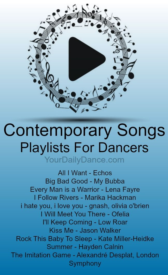 Contemporary Songs - Playlist 38 | Contemporary, Dancing and Songs
