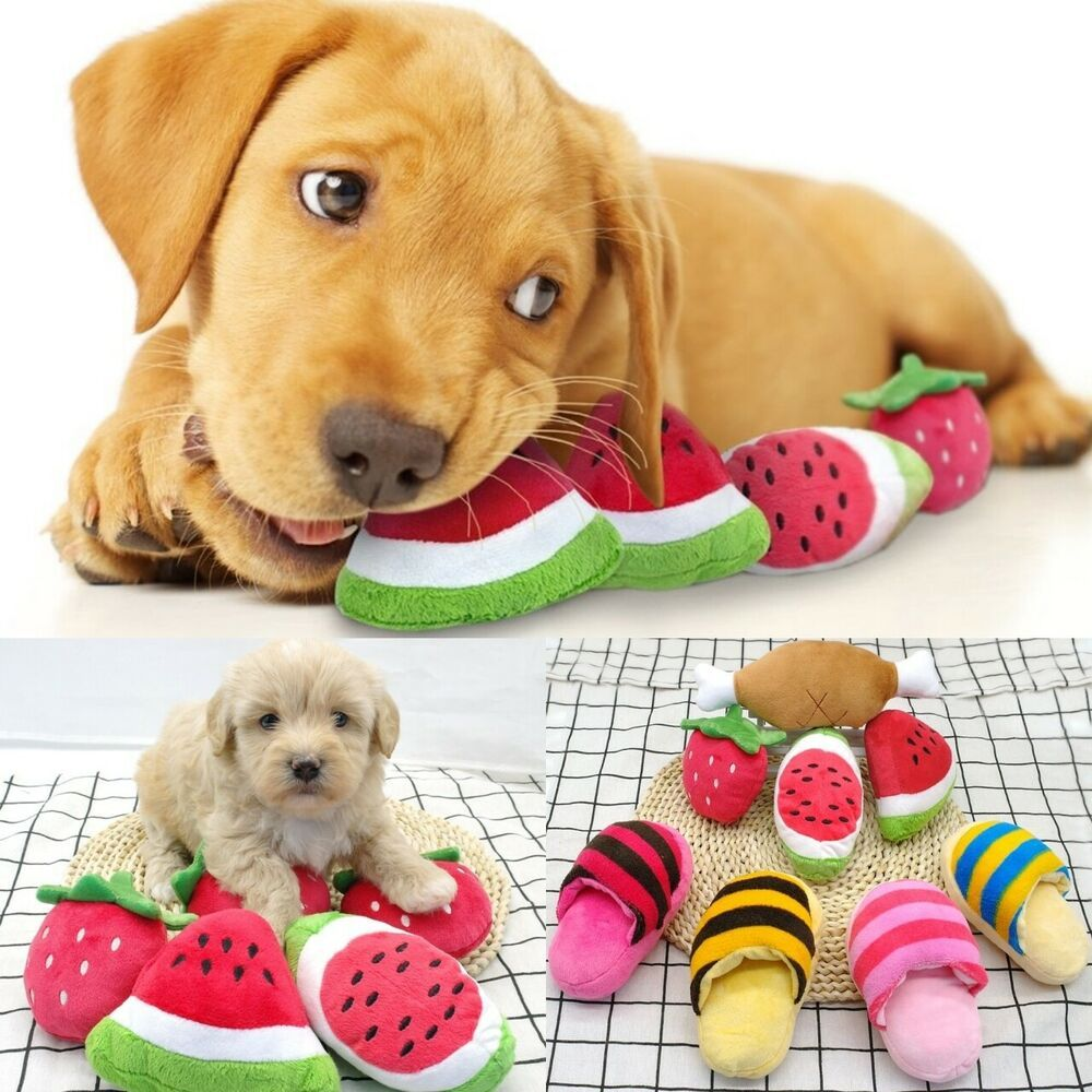Dog Toys Squeaky Sound Dogs Toy Stuffed Plush Bone Slipper Puppy