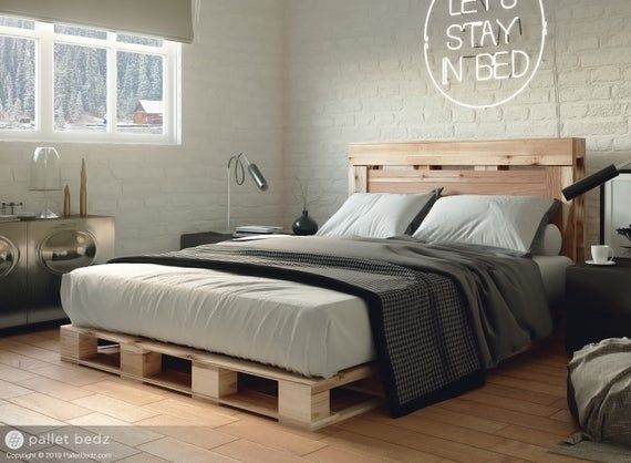 Pallet Bed Full Size Includes Headboard And Platform Full