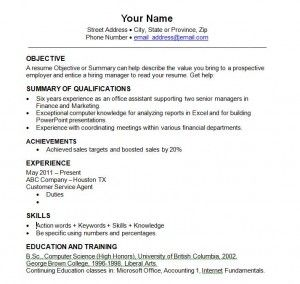 Beautiful Basic Resume Templates 2014 To 2014 Resume Templates