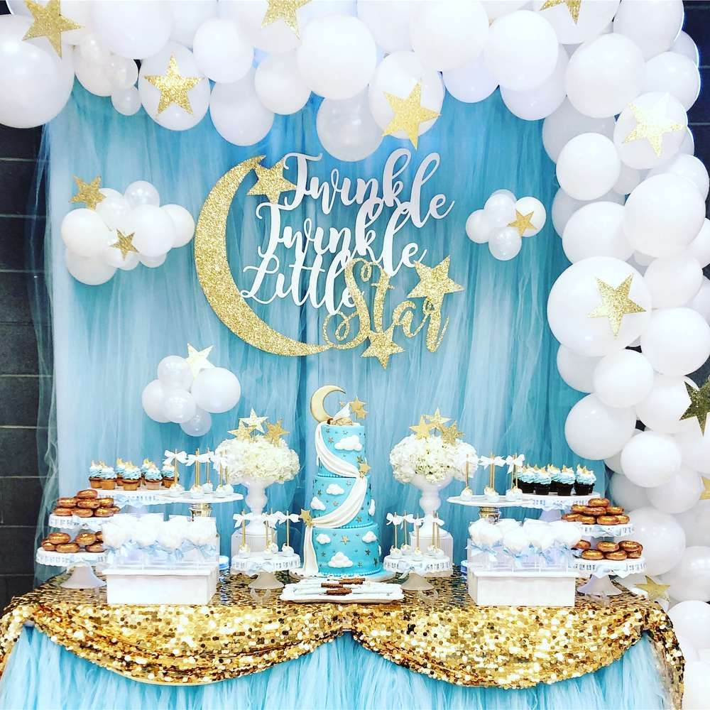 Twinkle Little Star Baby Shower Party Ideas | Babyshower ...