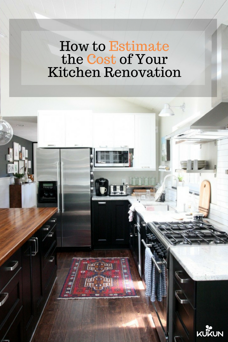 How To Estimate The Cost Of Kitchen Renovation  Kitchen Decor Stunning Kitchen Remodel Cost Estimator Decorating Design