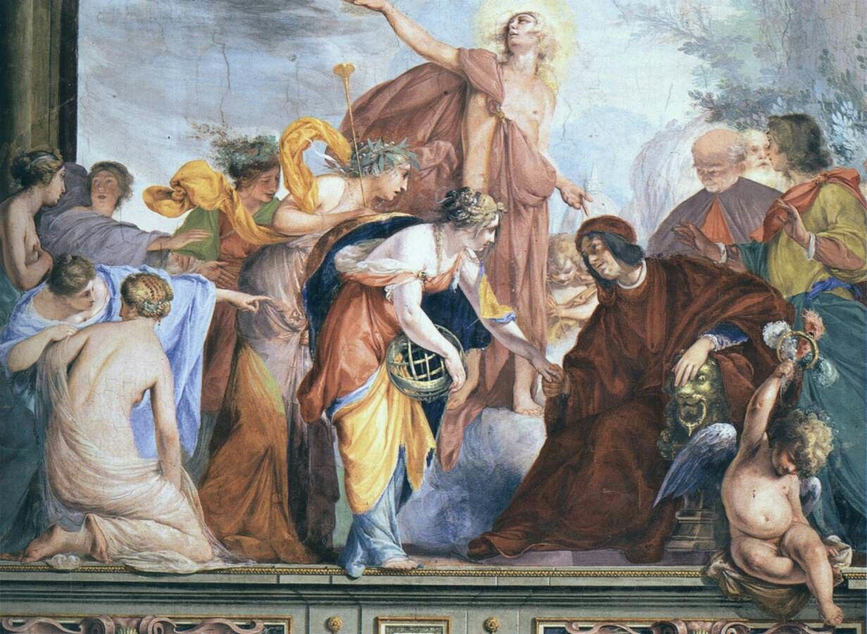 Cecco Bravo - South wall decoration (detail),  Fresco, Palazzo Pitti, Florence